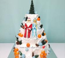 """Торт """"Дед Мороз и Снегурочка"""""""