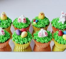 CUP-CAKE Пасхальные кролики и цыплята