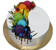 Торт Радуга из макаронс