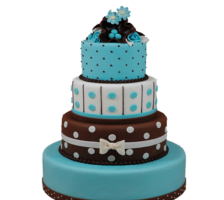 свадебный торт шоколад с бирюзой