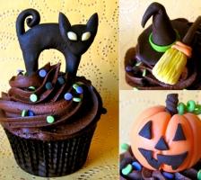 """CUP-CAKE """"Кошка, тыква, метла"""""""