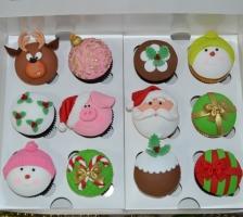 """Набор кап-кейков """"Дед Мороз и компания"""""""
