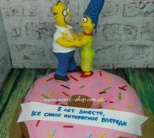 """Торт """"Влюбленные Симпсоны"""""""