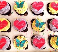 """Набор кап-кейков """"Пожелания на день рождения"""""""