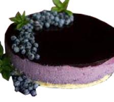 Торт Творожно - черничный