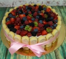 Торт Савоярди с ягодами
